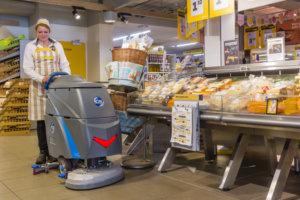 schoonmaakmachine voor supermarkten